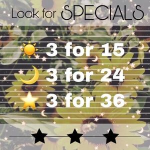 ☀️🌙⭐️ 3 for SPECIALS ⭐️🌙☀️